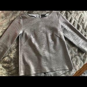 SEASONAL SALE‼️ Club Monaco silver blouse